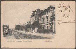 Wellington Road, St Johns Wood, London, 1903 - Blum & Degan U/B Postcard - London Suburbs
