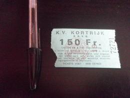 Ticket Football COURTRAI STANDARD - 1985 - KVK KORTRIJK - Habillement, Souvenirs & Autres