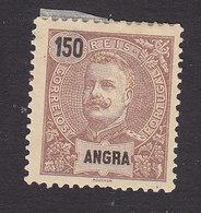 Angra, Scott #31, Mint Hinged, King Carlos, Issued 1897 - Angra