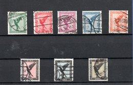 Allemagne -  Poste Aérienne  -  Série Yvert N 27 à 34  -  Obl  - Côte 215 € - Airmail