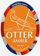 NEW UNUSED OTTER BREWERY (LUPPITT, ENGLAND) - AMBER - SPORTING OTTER No 6 - PUMP CLIP FRONT (2012) - Signs