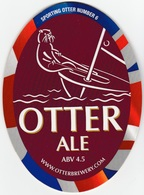 NEW UNUSED OTTER BREWERY (LUPPITT, ENGLAND) - ALE - SPORTING OTTER No 6 - PUMP CLIP FRONT (2012) - Signs