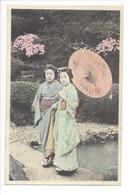 19727 - Japan  Girls In Kimono Umbrella - Japon