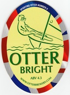 NEW UNUSED OTTER BREWERY (LUPPITT, ENGLAND) - BRIGHT - SPORTING OTTER No 6 - PUMP CLIP FRONT (2012) - Signs