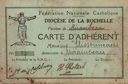 FEDERATION NATIONALE CATHOLIQUE DIOCESE DE LA ROCHELLE - Devotion Images