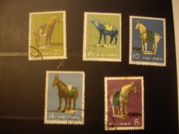CHINE   Stamps 1961  Chevaux - 1949 - ... Volksrepublik