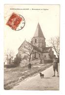 CPA 21 FONTAINES Les DIJON Monument Et Eglise Vue Peu Commun - France
