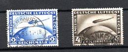 Allemagne -  Poste Aérienne  -  Yvert N 36 à 37--  2 Et 4 Reichmark  -  Obl  - Côte 120 € - Airmail