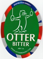 NEW UNUSED OTTER BREWERY (LUPPITT, ENGLAND) - BITTER - SPORTING OTTER No 7 - PUMP CLIP FRONT (2012) - Signs