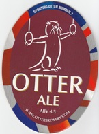 NEW UNUSED OTTER BREWERY (LUPPITT, ENGLAND) - ALE - SPORTING OTTER No 7 - PUMP CLIP FRONT (2012) - Signs
