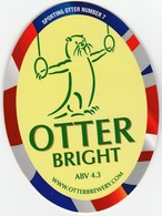 NEW UNUSED OTTER BREWERY (LUPPITT, ENGLAND) - BRIGHT - SPORTING OTTER No 7 - PUMP CLIP FRONT (2012) - Signs