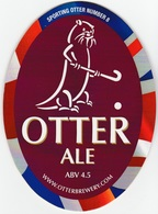 NEW UNUSED OTTER BREWERY (LUPPITT, ENGLAND) - ALE - SPORTING OTTER No 8 - PUMP CLIP FRONT (2012) - Signs