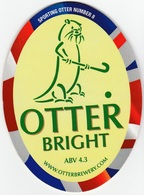 NEW UNUSED OTTER BREWERY (LUPPITT, ENGLAND) - BRIGHT - SPORTING OTTER No 8 - PUMP CLIP FRONT (2012) - Signs