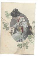 19730 - FEMMES - FRAU - LADY - JAPON - JAPAN - Jolie Carte Femme Japonaise Geisha Japanese Woman Musician - Japon