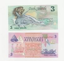 2 X 3 Dollars UNZ Cook - Inseln - Cook