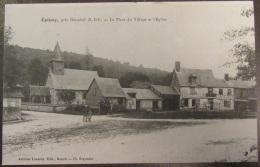 Epinay (Seine-Maritime), Près Darnétal - La Place Du Village Et L'Eglise - Carte Animée Circulée Le 16 Juillet 1912 - Other Municipalities