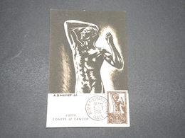 ALGÉRIE - Carte Maximum Contre Le Cancer En 1956 - L 16374 - Algeria (1924-1962)