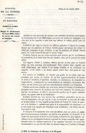 GUERRE De 1870 Decret N°27 Du 31 Octobre1870 Rappel Ordonnance Du 3 Mai 1832 Armées En Campagne - Decrees & Laws