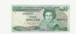 Dominica 5 Dollars UNZ - Caraïbes Orientales