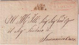 """FRANCE : MARQUE POSTALE . DEPARTEMENTS CONQUIS .  """" 105 ALBE  """" . SANS DATE . - Marcophilie (Lettres)"""