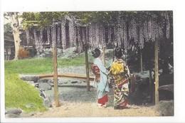19737 -  JAPON - JAPAN - Jolie Carte Girls Cherry Blossoms (attention Fold) - Japon