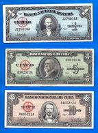 Lot Cuba 1 5 10 Pesos 1960 Peso Centavos Kuba Paypal Skrill OK - Cuba