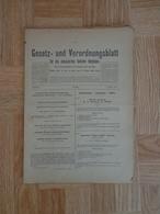 Gesetz Und Verordnungsblatt Für Die Okkupierten Gebiete Belgiens Moniteur Staatsblad Generalgouvernement 1915 - Décrets & Lois