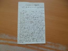 Manuscrit XIX ème Savon De Naples Pour La Barbe Et Autres Usages De Toilettes - Manuscritos