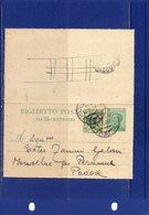##(DAN185)-1928-biglietto Postale Cent.25  Mill.27  Filagrano B21A Usato Con Valore Gemello Cent.25 Da Verona Per Padova - Interi Postali