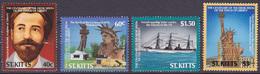 Série De 4 TP Neufs ** N° 617/620(Yvert) St. Kitts 1986 - Centenaire De La Statue De La Liberté - St.Kitts-et-Nevis ( 1983-...)