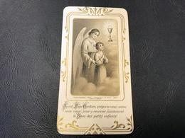 6237 - «Saint Ange Gardien, Préparez Vous Même Mon Coeur....» Eglise D'ALBIGNYBSUR SAINE 1932 - Devotieprenten
