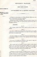 GUERRE De 1870 Decret N°30 Du 2 Novembre 1870 Mobilisation De Tous Les Hommes Valides... - Decrees & Laws
