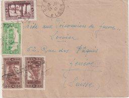"""ALGERIE : GUERRE . CENSURE DU CAMP D'INTERNES """" DJELFA """" . POUR GENEVE . 1941 . - Algeria (1924-1962)"""