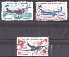 Gabon - 1967 - PA N° 52 à 54 Oblitérés - Avions - Avions