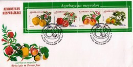 Azerbaijan 2000 Fruits FDC - Obst & Früchte