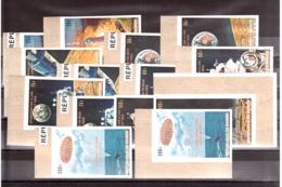 Homme Sur La Lune - 1969 - Guinée - N° 392 à 405 - Non Dentelés - Neufs ** - Légendes Française Et Anglaise - Collections