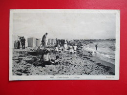 CPA 56 PORT LOUIS LA PLAGE ENFANTS TENTES - Port Louis