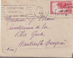 """ALGERIE : OBL MECANIQUE . """" QUINZAINE IMPERIALE 17 AU 31 MAI 1942 """" . - Algérie (1924-1962)"""