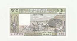 Elfenbeinküste 500  Francs  1986A UNZ - Côte D'Ivoire