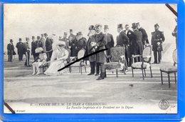 CPA 50 - Visite De S. M. LE TSAR à CHERBOURG - La Famille Impériale Et Le Président Sur La Digue - Cherbourg