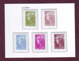 FRANCE 2009 - Série 4342/4346 - Marianne De Beaudard - Neuf ** - Unused Stamps