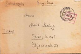 ALLEMAGNE ENVELOPPE DU 23 DECEMBRE 1947 DE TRIER POUR TRIER / MOSEL CACHET GEBUHR BEZAHLT - Zone Française