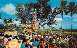 """07322 """"A SCENE OF A MAGNIFICENT CREMATION CEREMONY IN BALI - INDONESIA"""" CART. ORIG. NON SPED. - Indonesia"""