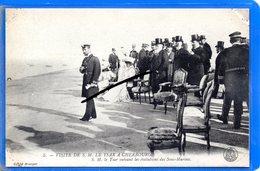 CPA 50 - Visite De S. M. LE TSAR à CHERBOURG - S. M. Le Tsar Suivant Les évolutions Des Sous-Marins - Cherbourg