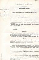 GUERRE De1870 Decret N°39 Du 12 Novembre 1870 Création D'un Camp D'instruction Près De Toulouse - Decrees & Laws