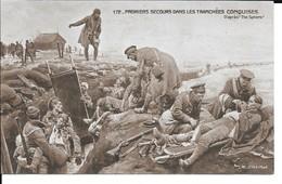 """MILITARIA (14/18) CPA """"PREMIERS SECOURS DANS LES TRANCHéES ANGLAISES""""""""CROIX ROUGE"""" (SUPERBE) - Weltkrieg 1914-18"""