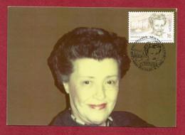 Belgien 1996  Mi.Nr. 2688 ,  EUROPA CEPT - Berühmte Frauen - Maximum Card - S Stempel Rocourt  04.05.1996 - Europa-CEPT
