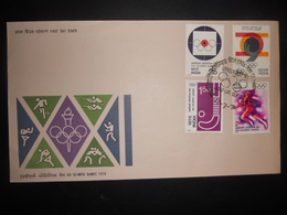 Inde Fdc Olympic Games , Jaipur 1976 - FDC