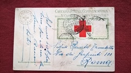 CROCE ROSSA TIMBRO A SECCO COMMEMORATIVA IV GUERRA INDIPENDENZA - Croce Rossa