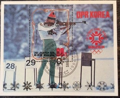 Korea 1984 S/S Winter Olympic Games Sarajevo Bosnia Herzegovina Medal Winners Peter Angerer Sports Stamp CTO SG MS N2396 - Winter 1984: Sarajevo